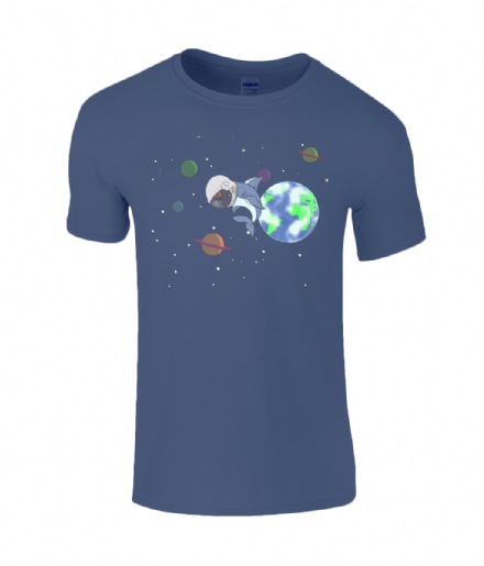 Sharktronaut Shark in Space Kids SoftStyle Ringspun T-Shirt